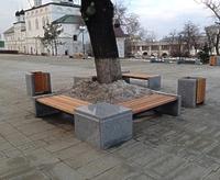 Скамейки и урны для парка